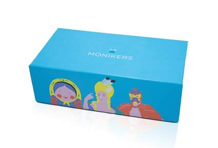 Box of the game Monikers as a best friend Valentines gift