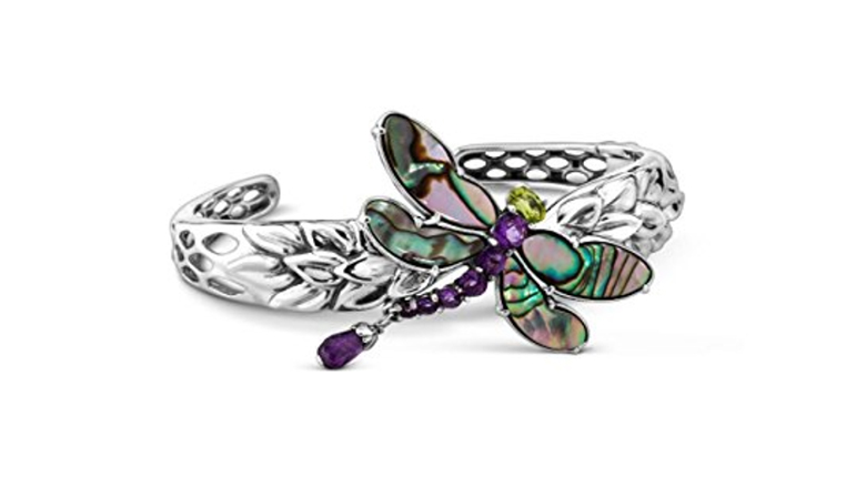 february birthstone, birthstone jewelry, birthstone earrings, amethyst jewelry, amethyst bracelet, birthstone bracelets, gemstone bracelets, cuff bracelet, carolyn pollack