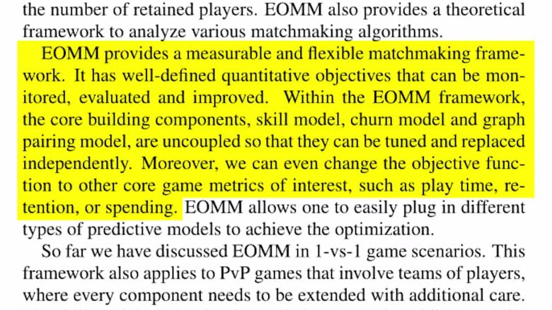 ea patent, ea matchmaking, ea microtransactions