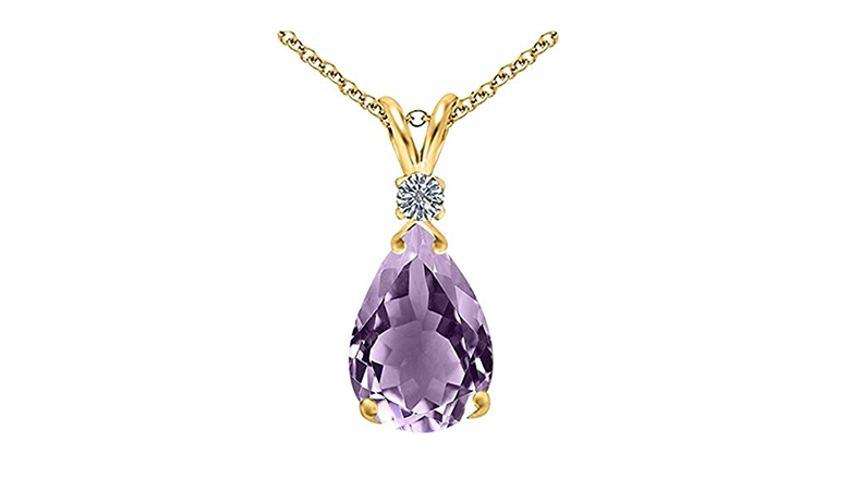 february birthstone, birthstone jewelry, birthstone necklace, amethyst jewelry, amethyst necklace, amethyst pendant