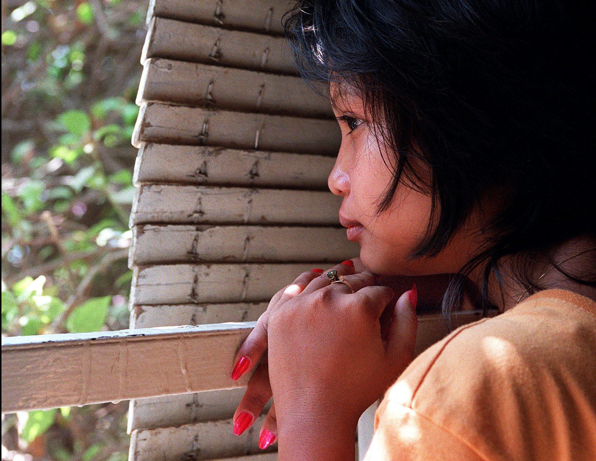 window, girl, Asia