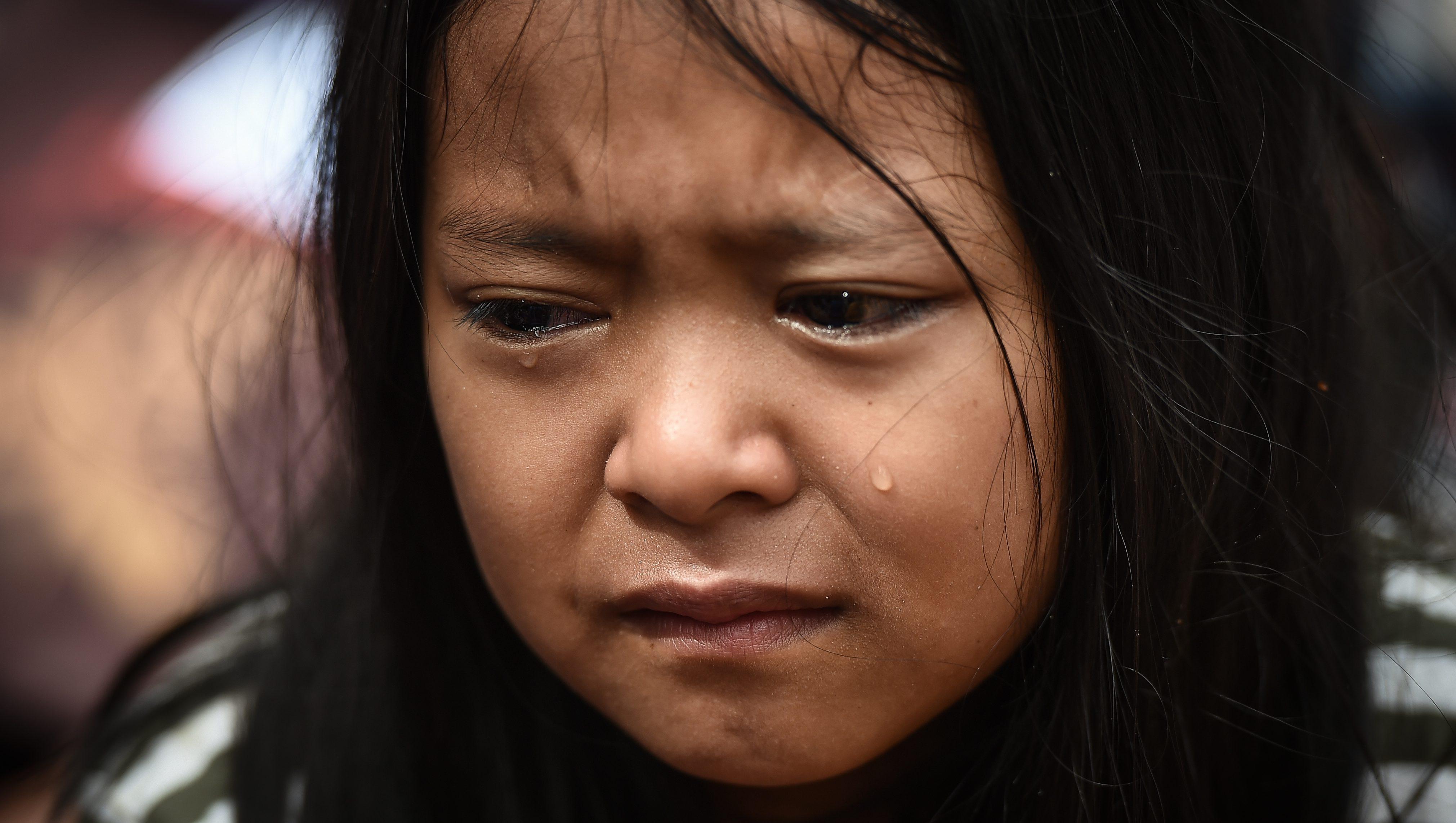 Crying Thai child
