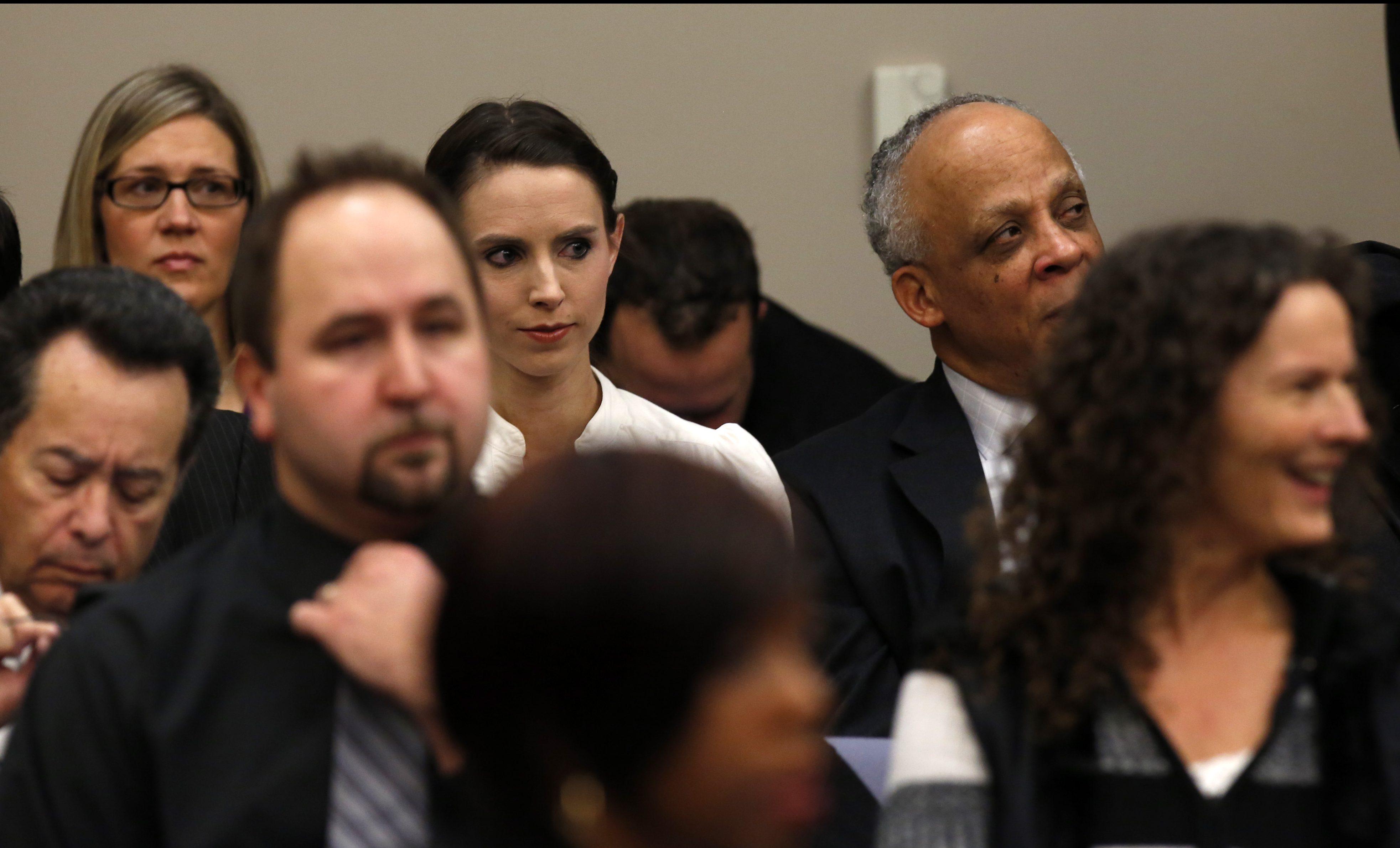 Rachael Denhollander, Larry Nassar hearing, sentencing, trial, courtroom, Michigan