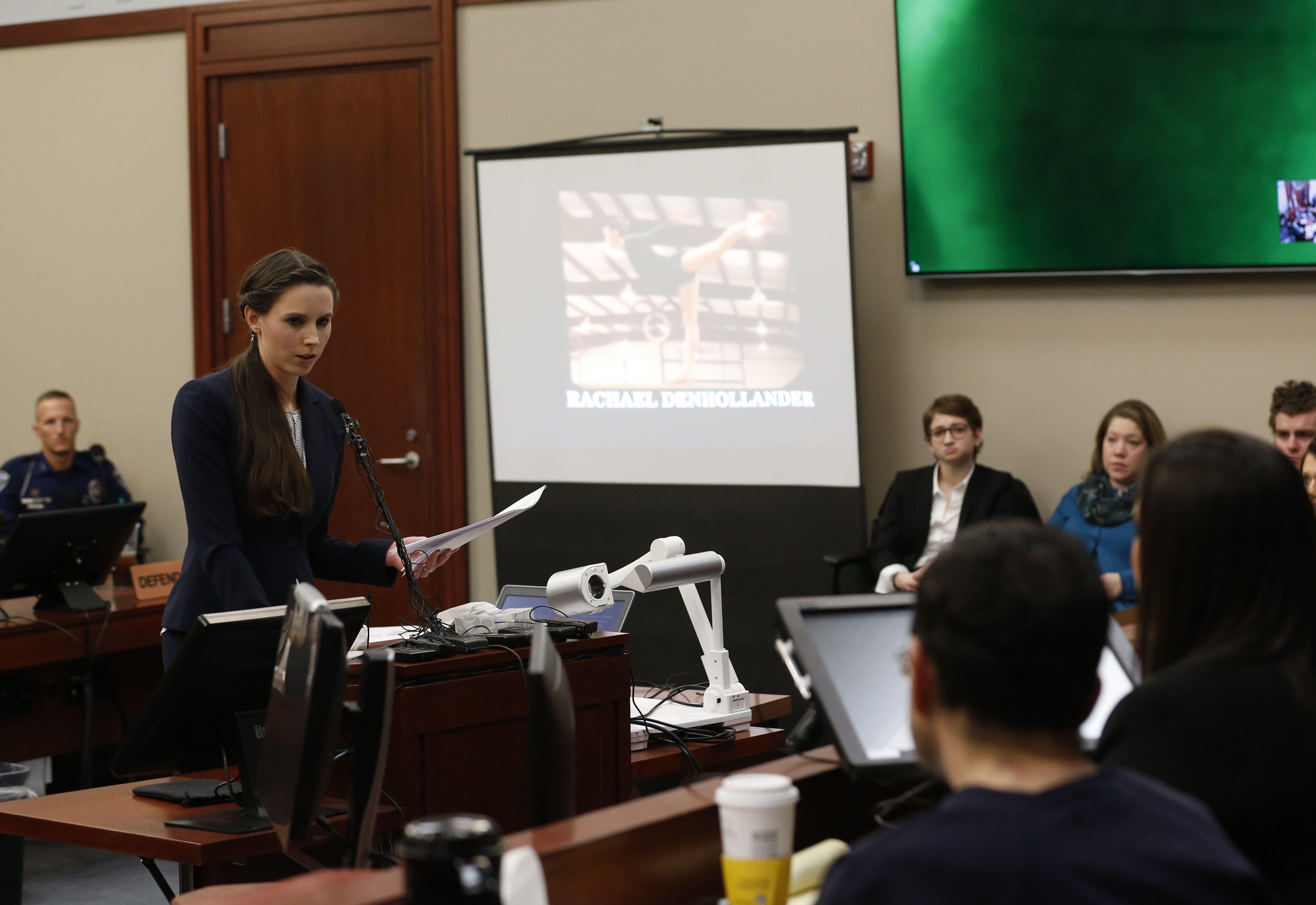 Rachael Denhollander, Larry Nassar trial, sentencing hearing, court