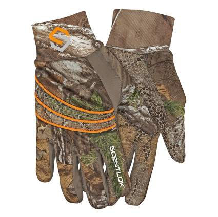 scentlok, hunting gloves, shooting gloves, hunting liners