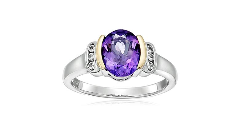 february birthstone, birthstone jewelry, amethyst rings, birthstone rings, cocktail rings