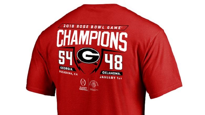 georgia 2018 rose bowl champions gear shirts