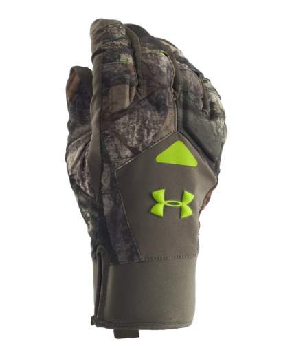 under armour, hunting gloves, shooting gloves, camo gloves