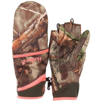 huntworth, hunting gloves, camo gloves, shooting gloves, womens hunting