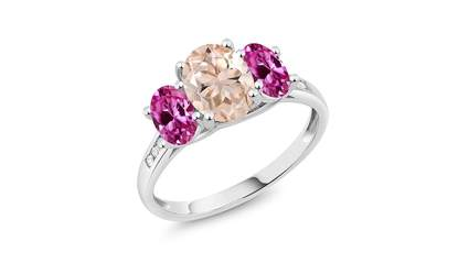 Morganite ring, valentine's day jewelry, valentines day rings