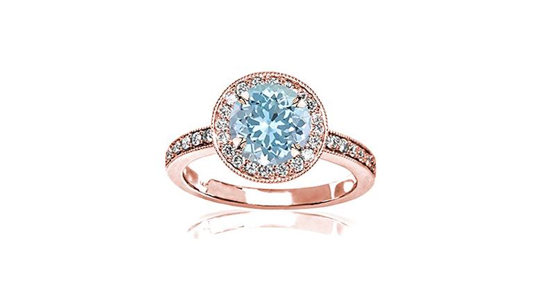 aquamarine engagement ring, aquamarine jewelry, aquamarine rings