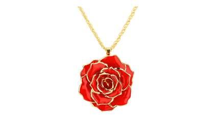rose necklace, valentine's day necklace, valentine's day jewelry