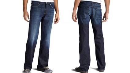 Mens loose fit jeans, men's skinny jeans, mens jeans, black jeans, 7 for all mankind