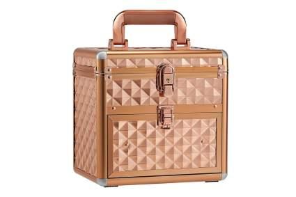 Gold cosmetic train case