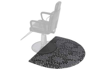Hairstylist chair floor mat with pattern
