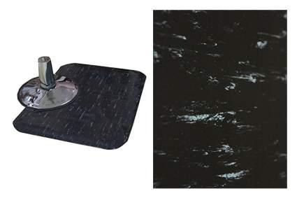 Black fau marble fatigue mat