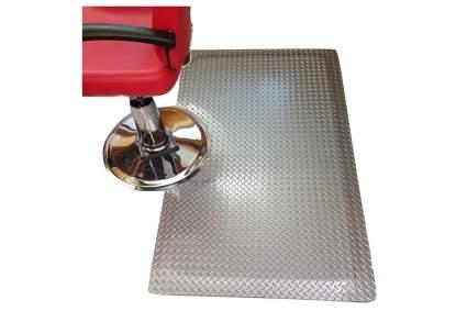 barbershop mat that looks like metal