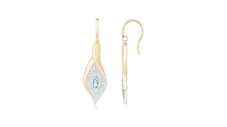 aquamarine earrings, aquamarine jewelry, March birthstone