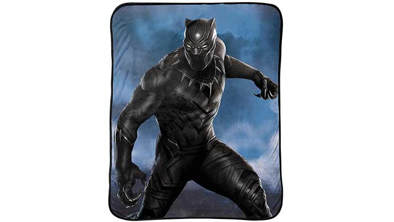 black panther hunter plush throw