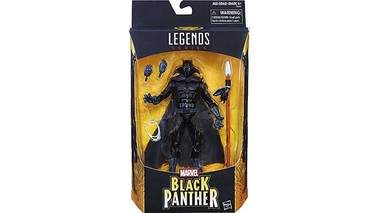 Black Panther legends series with cape figure