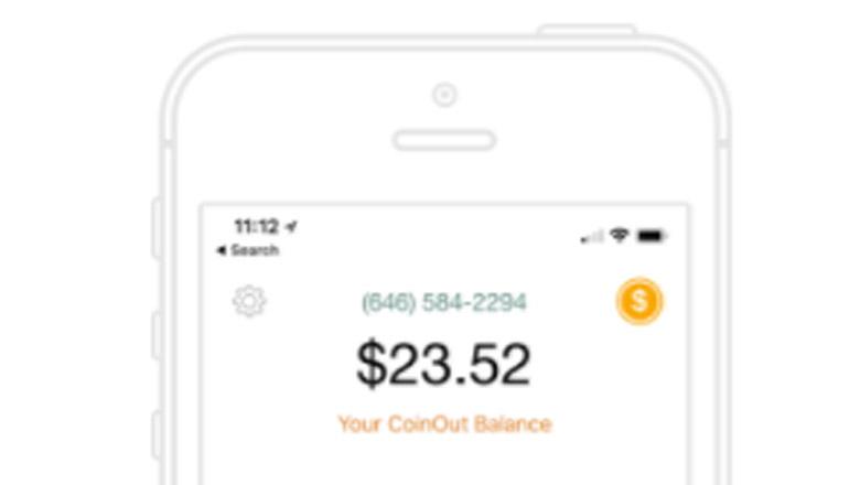 coinout, coinout app, change app, receipt app