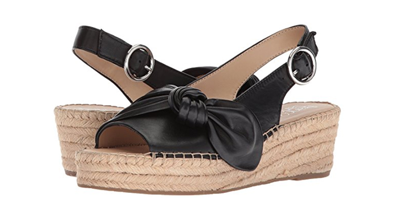 franco sarto wedges, espadrille wedges, black espadrilles