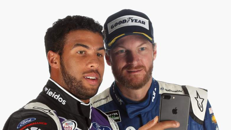 darrell wallace jr., bubba, dale earnhardt jr, family