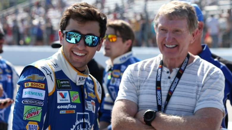 chase elliott, father, bill, dad, parents, mom