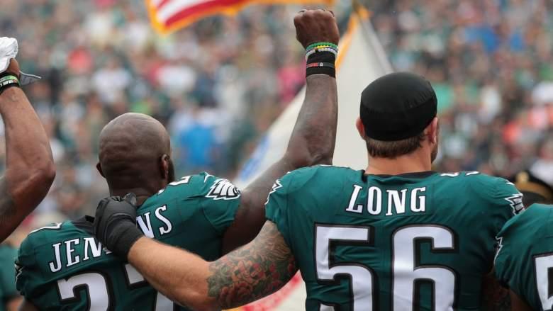 eagles national anthem protests, eagles, patriots,