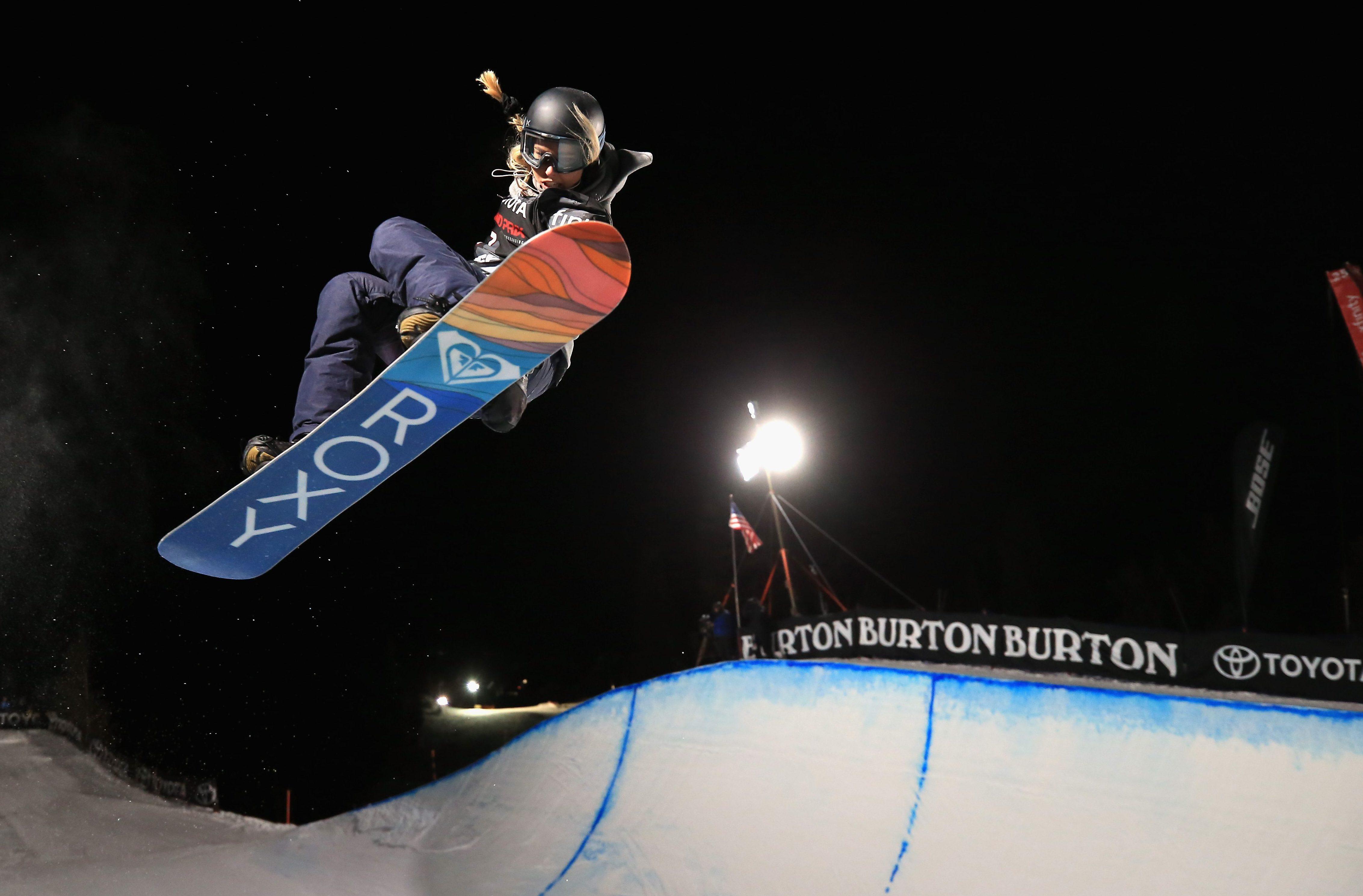 Olympic snowboard halfpipe