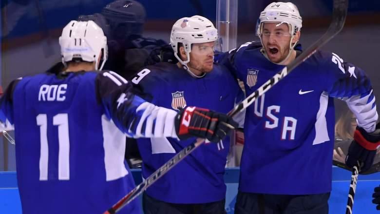 USA Men's Hockey, Winter Olympics 2018, USA vs Slovakia