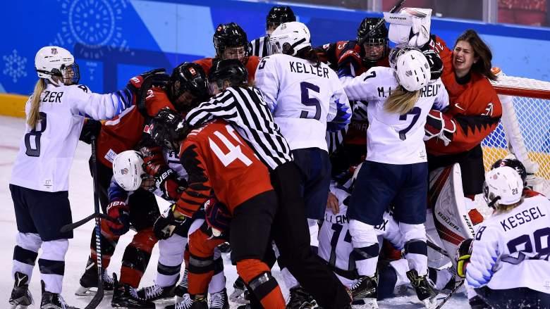 USA vs Canada Women's Hockey, Gold Medal Game, 2018 Winter Olympics