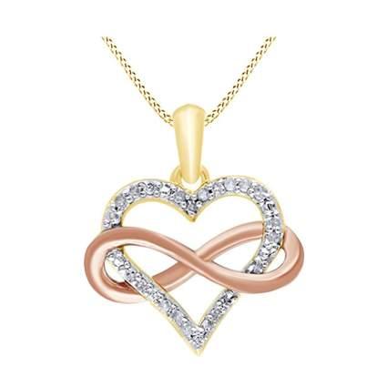 diamond studded infinity heart necklace