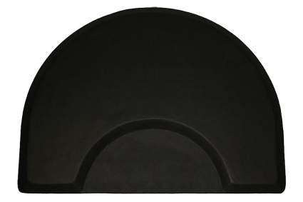 Large black half circle fatigue mat