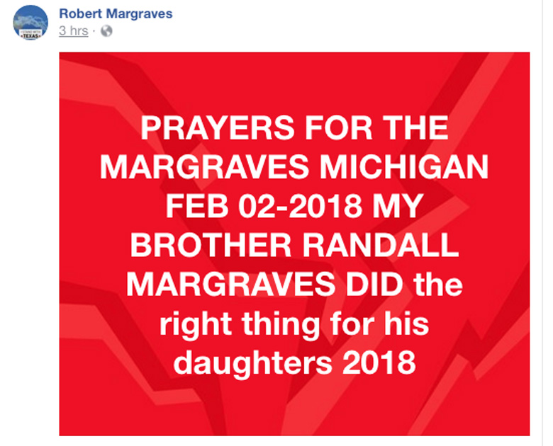 Robert Margraves Facebook page