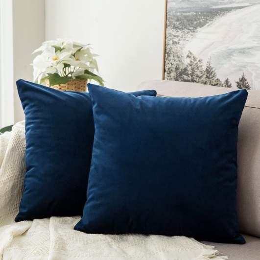 hygge home decor, velvet throw pillows