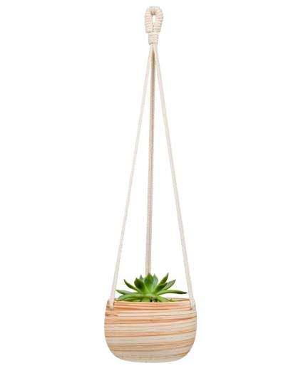 hygge home decor, macrame planter