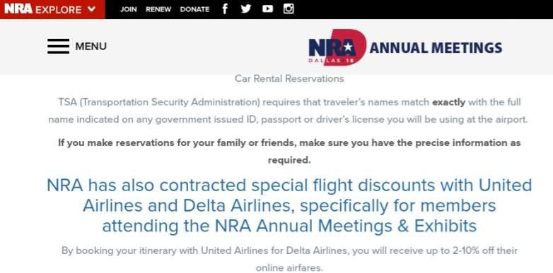 Delta NRA discount