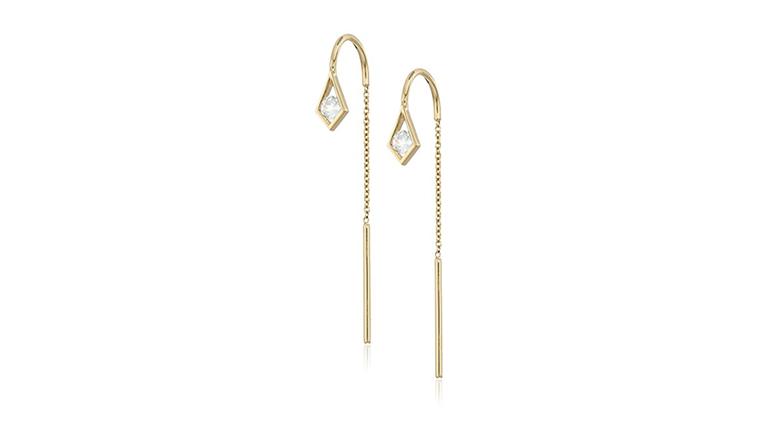 threader earrings, aquamarine earrings, aquamarine jewelry