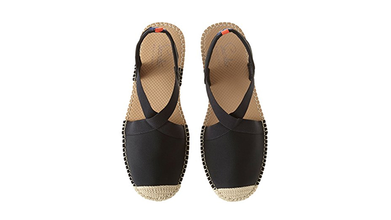 sea star shoes, black espadrilles, espadrille flats