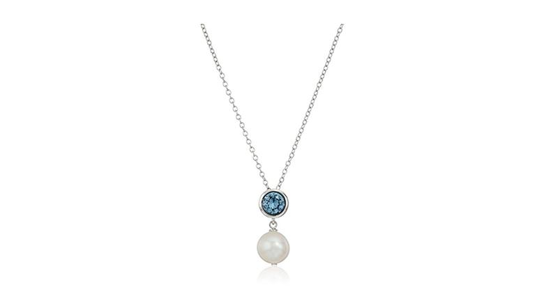 aquamarine necklace, aquamarine jewelry, aquamarine pendant