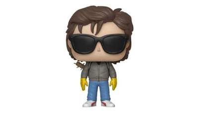steve with sunglasses and bat funko pop figure