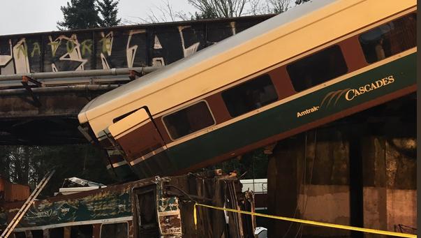 Amtrak crashes