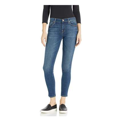 skinny midrise ankle jeans