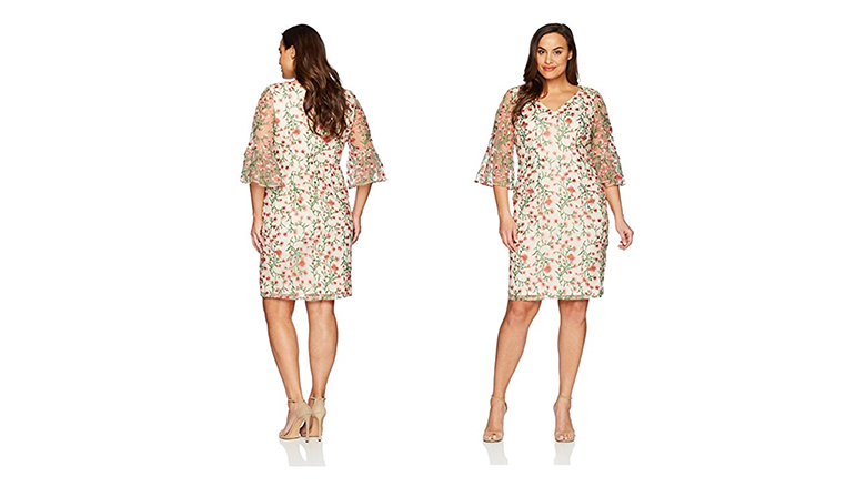 adrianna papell dress, plus size floral dresses, plus size summer dresses, plus size floral print dress