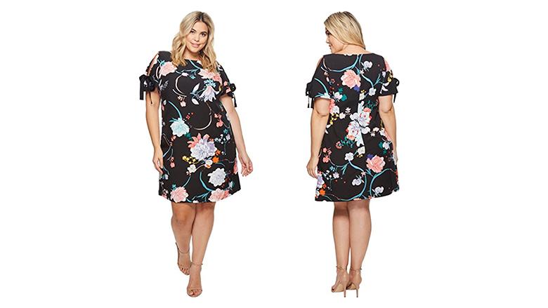plus size shift dress, plus size floral dresses, plus size summer dresses, plus size floral print dress