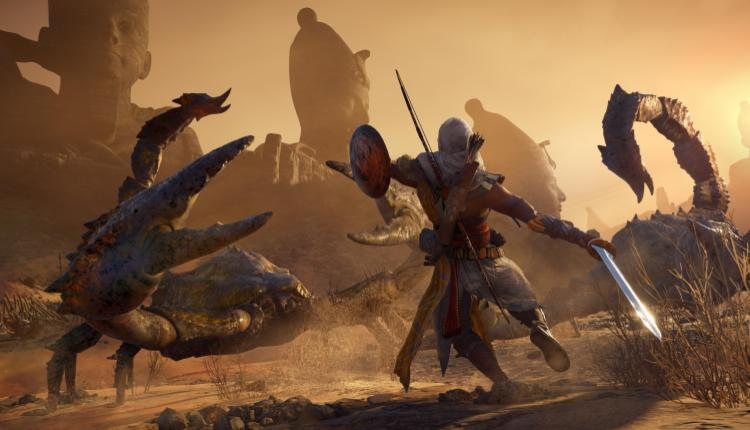 a screenshot of assassin's creed origins gameplay