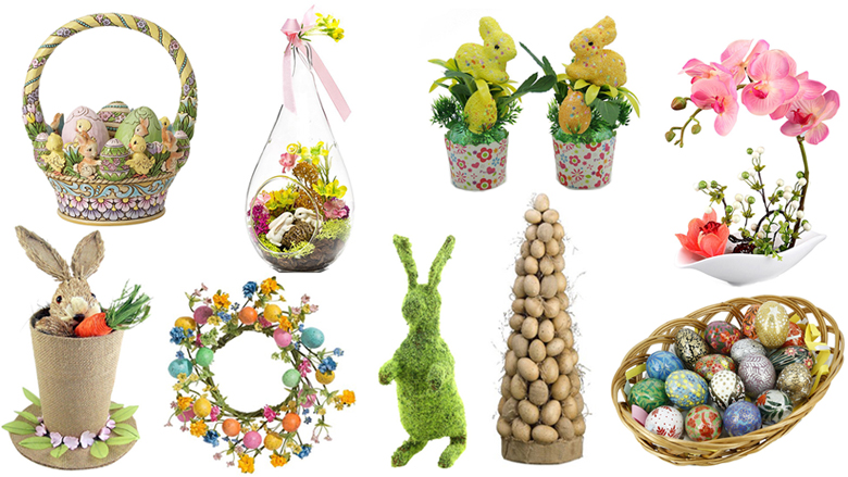 easter centerpieces, easter table decorations, easter tablescapes, easter table