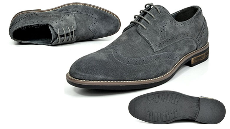 bruno marc new york mens urban suede leather lace up oxfords
