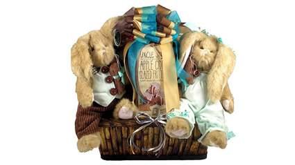 stuffed animal bunny gift basket
